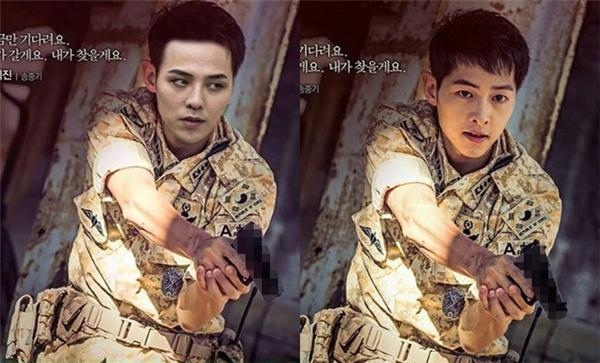 Không thể không công nhận G-Dragon cũng ra dáng quân nhân điển trai không thua kém Song Joong Ki.