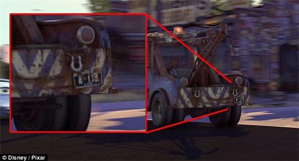 Kí tự A113 trong phim Cars.