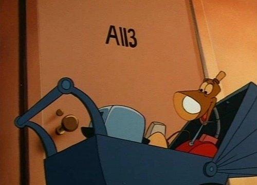 Một bức ảnh hiếm hoi về kítự A113 trong một tác phẩm của hãng Hyperion Pictures.