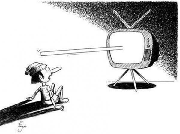 Mọi điều trên truyền hình chỉ là dối trá.