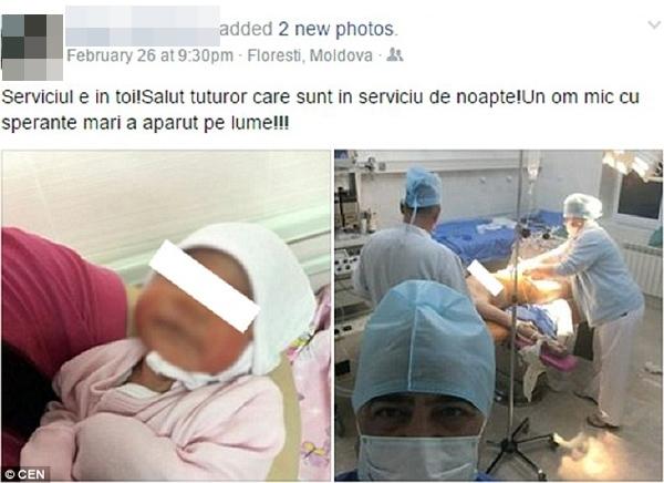 Bác sĩ này đã nhanh chóng bị kỉ luật ngay sau khi chia sẻ bức ảnh trong phòng bệnh lên mạng xã hội.
