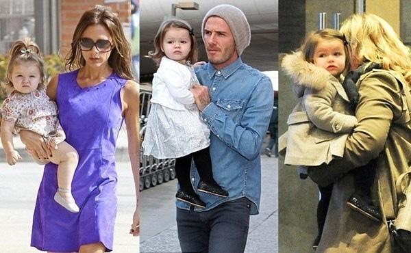 Ngay từ khi còn nhỏ Harper đã được diện đồ hàng hiệu rất thời trang và đáng yêu.