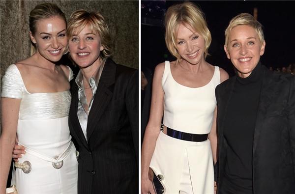 Ellen cùng bạn đời Portia đã vượt qua mọi lời đồn đại ác ý suốt 12 năm qua. (Ảnh: Jeff Kravitz)