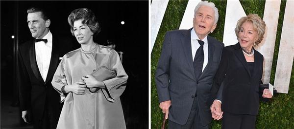 Kirk và Anne đã bên nhau 62 năm và vẫn còn nồng thắm tay trong tay trong các sự kiện. (Ảnh: Michael Ochs Archives, Alberto E. Roddriguez)