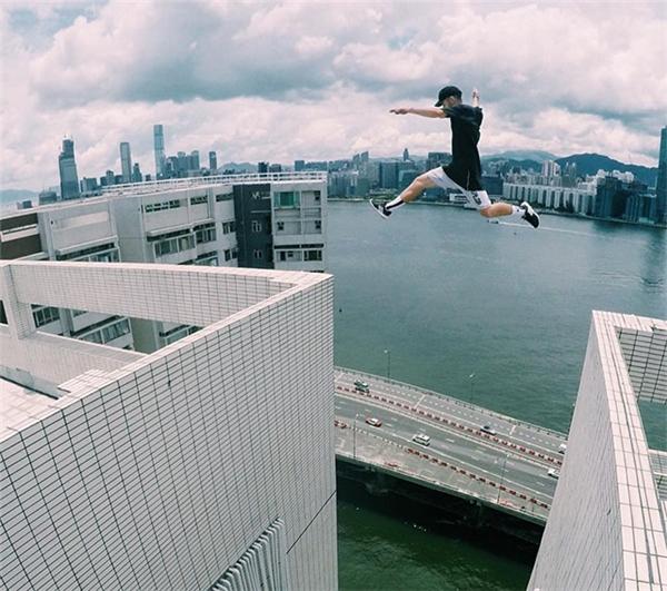 Parkour là môn thể thao mạo hiểm mang phong cách hip hop. (Ảnh: Instagram)