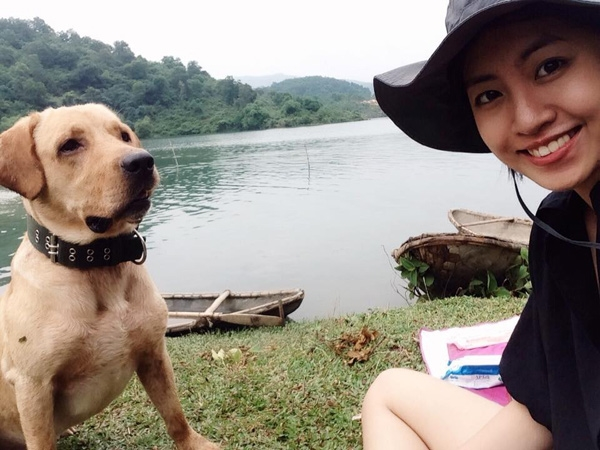 Trang và Fiin ở Hòa Bình.