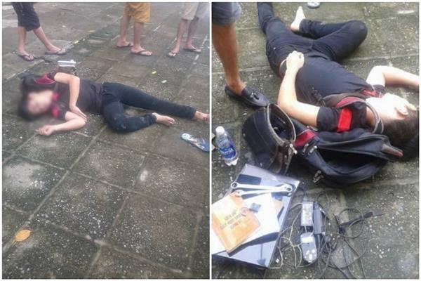 Trộm đồ bị phát hiện, nam thanh niên cuống cuồng rơi từ tầng 4 xuống