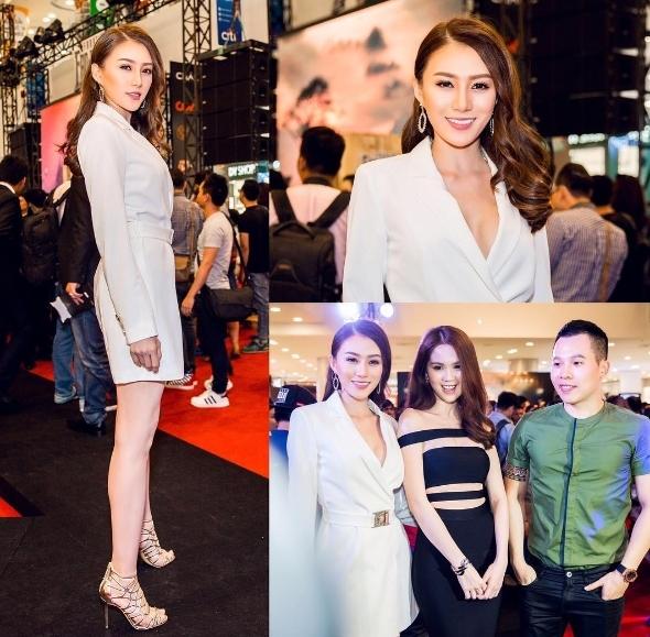 Lê Hà team Hồ Ngọc Hà vẫn giữđịnh hướng thời trang theophong cách quý cô thanh lịch, sành điệu.