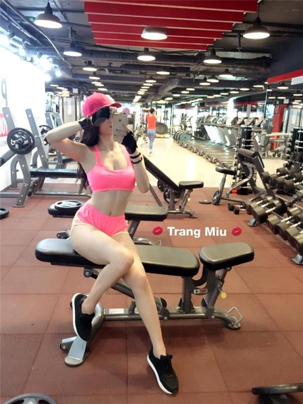 """Đây chính là cô nàng có thân hình nóng bỏng khiến biết bao trái tim phải """"rung rinh"""" – Trang Miu. (Ảnh: Internet)"""