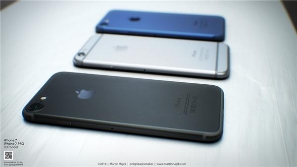 3 phiên bản màu sắc của iPhone 7 rò rỉ trước đó. (Ảnh: internet)
