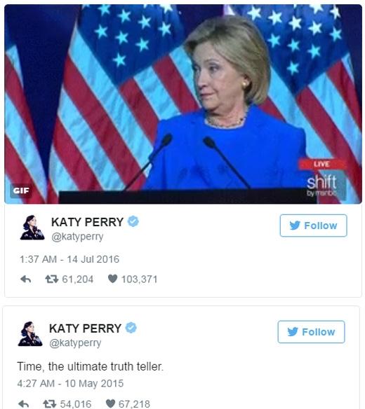 """Dòng tweer đầy thâm ý của Katy: """"Thời gian sẽ vạch trần mọi sự thật."""""""