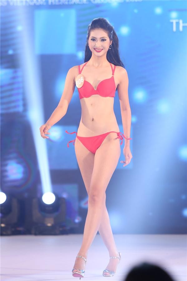 Phần thi bikini chiếm số điểm lớn bởi ban giám khảo sẽ xem xét sự cân đối của thí sinh ở mặt hình thể.