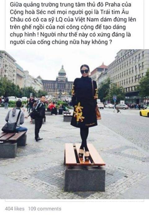 Vào cuối năm 2015 vừa qua, nữ ca sĩ Lệ Quyên từng khiến công chúng xôn xao khi liên tiếp có những hành động không mấy đẹp mắt nơi công cộng. - Tin sao Viet - Tin tuc sao Viet - Scandal sao Viet - Tin tuc cua Sao - Tin cua Sao