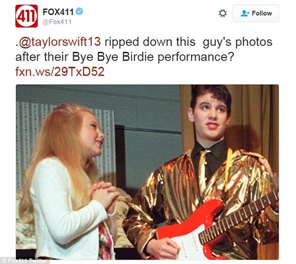 """Cody Derespina từng diễn vở kịch """"Bye Bye Birdie"""" với Taylor Swift năm cô 11 tuổi."""