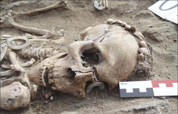 Bộ xương của người đàn ông vẫn còn nguyên vẹn.