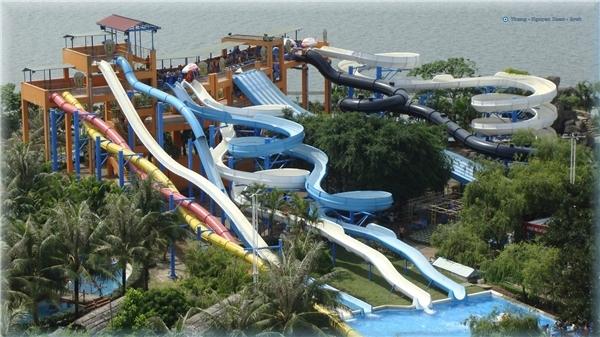 Công viên nước Hồ Tây đượclọt vào top các công viên thú vị dành cho trẻ em hàngđầu thế giới.