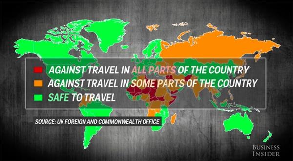 Nếu muốn đi du lịch tới những khu vực này, bạn nãy cân nhắc thật kĩ.
