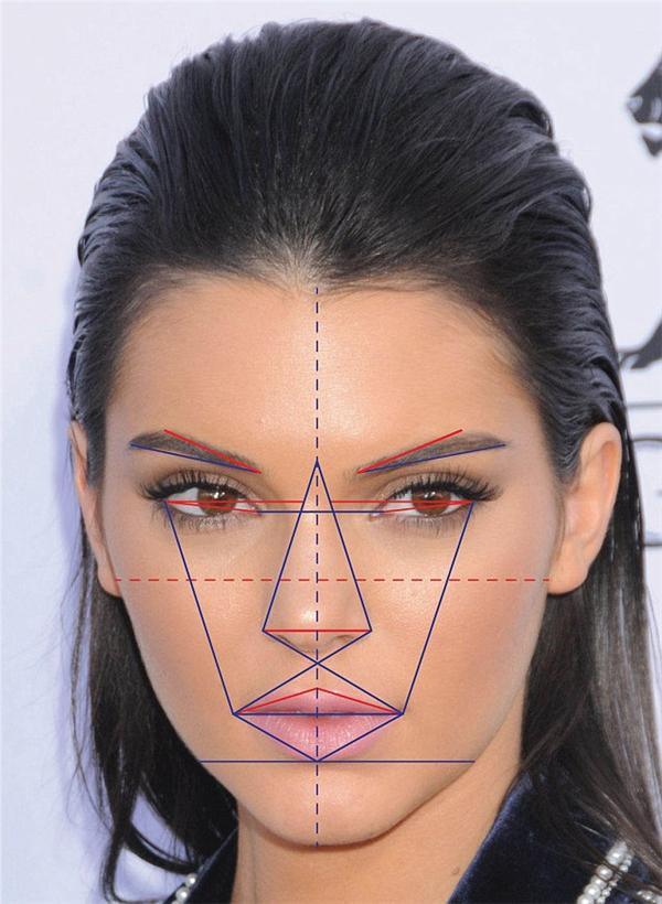 Kendall Jenner, em gái khác cha của Kim có gương mặt đẹp lọt top 5.