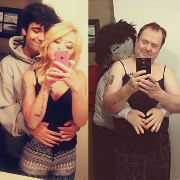 Bức ảnh mới nhất cô nàng chụp cùng bạn trai của mình.