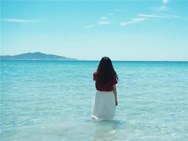 Biển Bình Hưng một ngày đẹp trời. (Ảnh: Hien Nguyen)