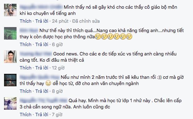 Nhiều học sinh bất ngờ với thông tin sẽ có sách giáo khoa song ngữ Việt - Anh