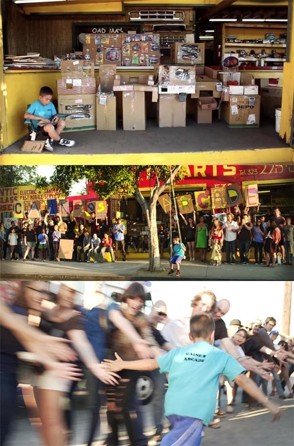 Nhận ra tài năng của Caine, Nirvan đã đứng ra tổ chức một buổi flash mob để quảng bá cho cửa hàng đồ chơi của cậu bé, đồng thời quay lại một cuốn phim tài liệu dài 11 phút rồi cho đăng tải trên hàng loạt mạng xã hội khác nhau, giúp cậu bé trở nên nổi tiếng và được mời tới dự rất nhiều hội thảo về sáng tạo và công nghệ. Sau đó cậu bé được Đại học Colorado trao tặng suất học bổng toàn phần.