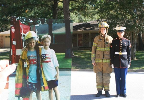 Khi hai anh em này còn nhỏ, họ đã mơ một ngày được làm lính cứu hỏa và cảnh sát. Và khi lớn lên, người anh trở thành lính cứu hỏa, còn người em trở thành lính thủy đánh bộ, thậm chí được trao tặng huân chương.