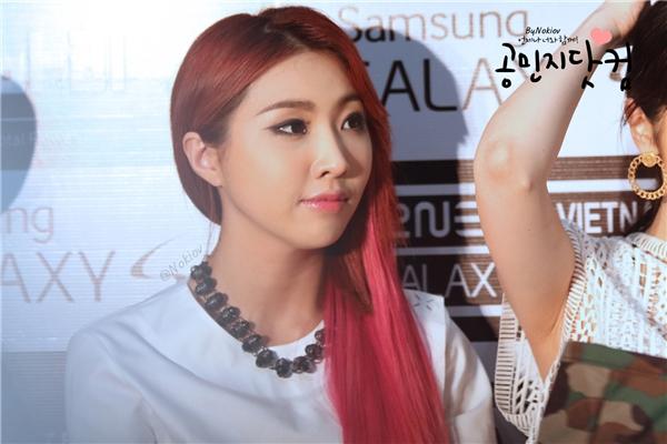 Chiếc mũi góp phần cải thiện nhan sắc của Minzy rất nhiều