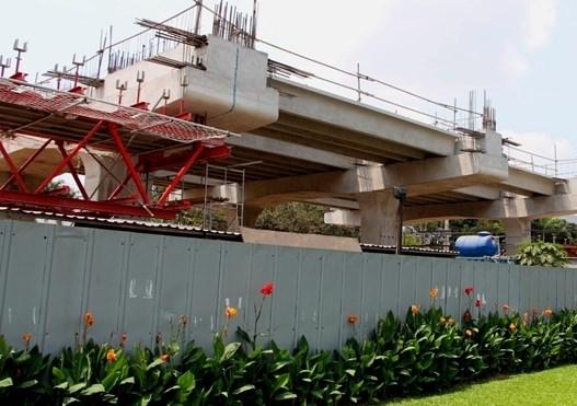 Một nhà ga đang trong giai đoạn thi công phần sảnh chờ. (Ảnh: internet)
