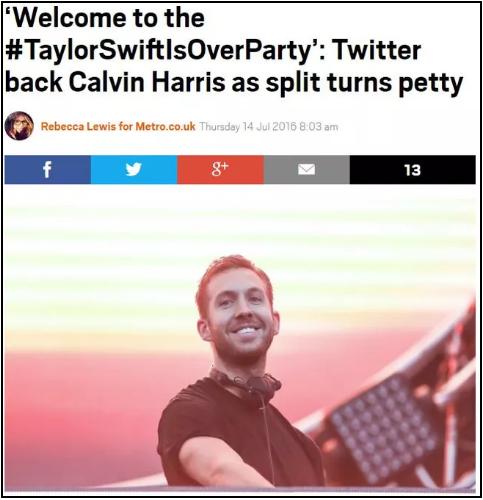 Cư dân mạng trên Twitter đã đứng về phía Calvin và tẩy chay Taylor.