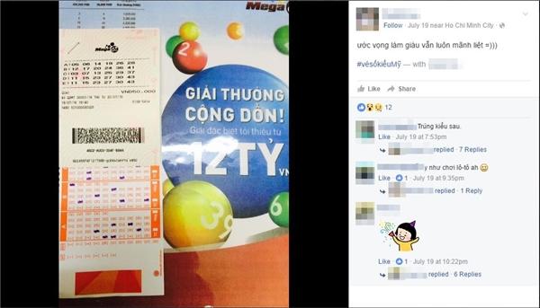 Có thể nói, vé số điện tử này có một sức hút rất lớn đối với người dân Việt Nam. (Ảnh chụp màn hình)