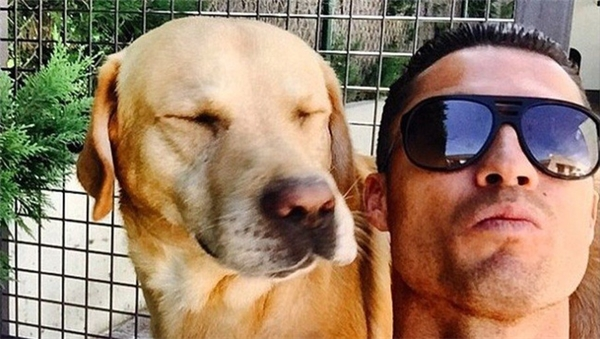 CR7 nuôi hai chú chó làMarosca, Abelhinha. (Ảnh: internet)