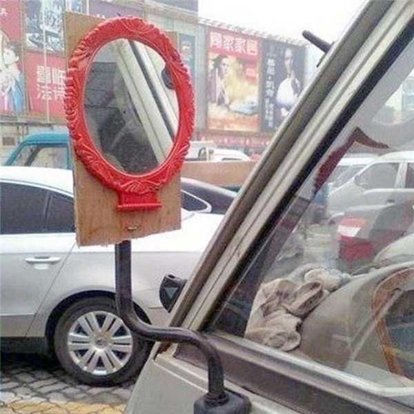Đố có kính chiếu hậu nào to được như thế.