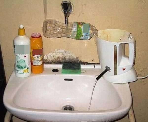 Khi vòi rửa mặt được thay thế bằnghệ thống tưới tiêu phức tạp.