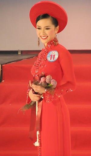 Thiên Lý ở thời điểm dự thi Hoa hậu Hoàn vũ Việt Nam 2008.
