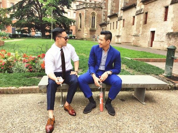 Denis Do và em trai Đỗ Hoàng Việt tại Pháp.