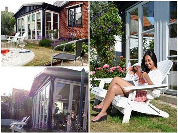 Nữ ca sĩcó thể ngồi thong thả đọc sách tại khu vườn. - Tin sao Viet - Tin tuc sao Viet - Scandal sao Viet - Tin tuc cua Sao - Tin cua Sao