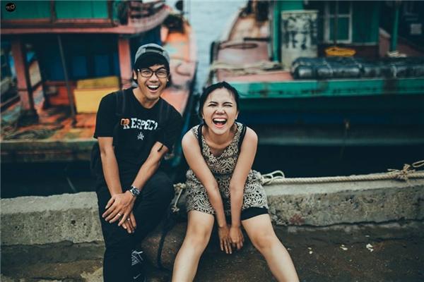 Ngọc Chiến - Hạnh Thảohạnh phúc, vui vẻ bên nhau. (Ảnh: Kim Ơi)