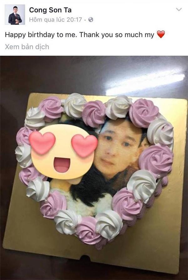 Bạn trai đại gia hạnh phúc khoe ảnh chiếc bánh kem được Kỳ Duyên tặng nhân ngày sinh nhật. - Tin sao Viet - Tin tuc sao Viet - Scandal sao Viet - Tin tuc cua Sao - Tin cua Sao
