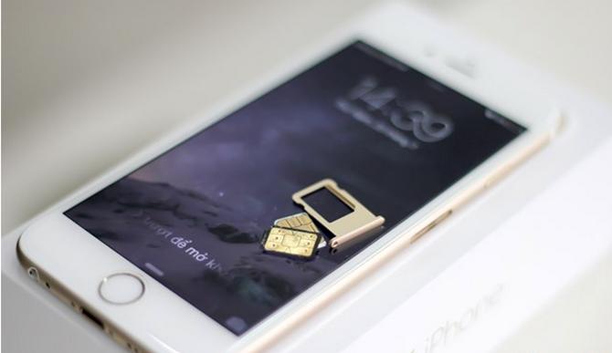 iPhone lock thường sử dụngSIM ghép. (Ảnh: internet)