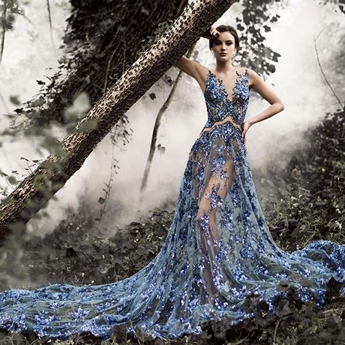 Bạn có bao giờ nghĩ rằng sẽ có một chiếc váy cưới được làm từ đá sapphire?