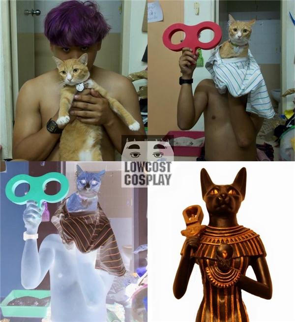 Khi anh ấy hóa thân thành nữhoàng đầu mèothời Ai Cập cổ đại.(Ảnh: Internet)
