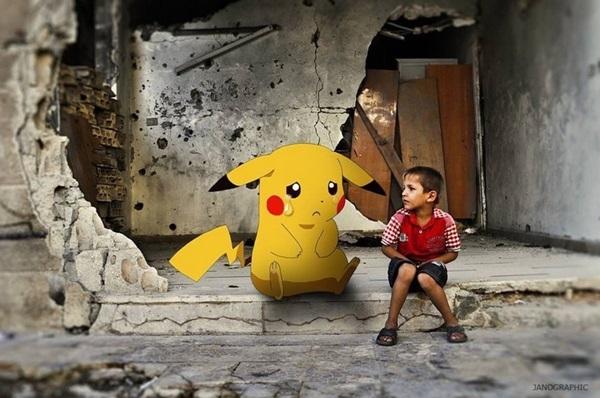 Đó là hành trình tìm kiếm Pokemon kì lạ và đầy đau thương mà bạn chưa bao giờ trải qua trong đời. (Ảnh: Janographic)