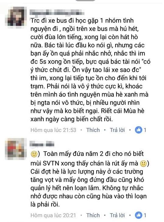 Rất nhiều bình luận của các bạn trẻ được chia sẻ.(Ảnh: Internet)