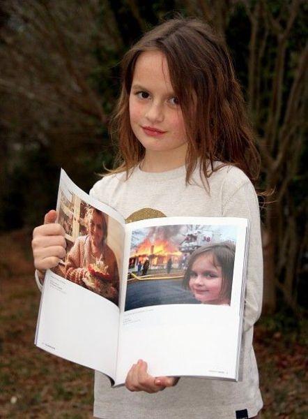 Đây là một trong những bức ảnh đặc biệt nhất trong cuộcđời cô gái.