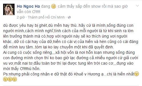 """Dòng trạng thái của Hà Hồ giữa """"cơn bão"""" chỉ trích đã khiến dư luận chú ý. - Tin sao Viet - Tin tuc sao Viet - Scandal sao Viet - Tin tuc cua Sao - Tin cua Sao"""