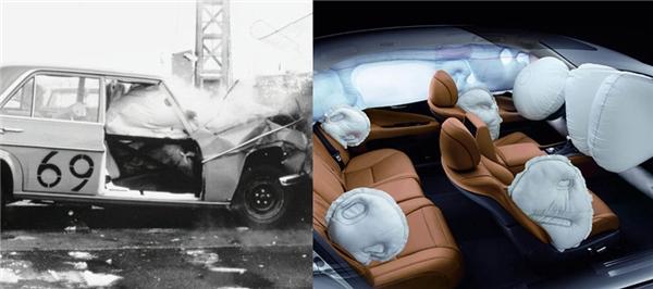 Túi khí thời nay hiện đại hơn và thiết kế tiết kiệm không gian hơn.