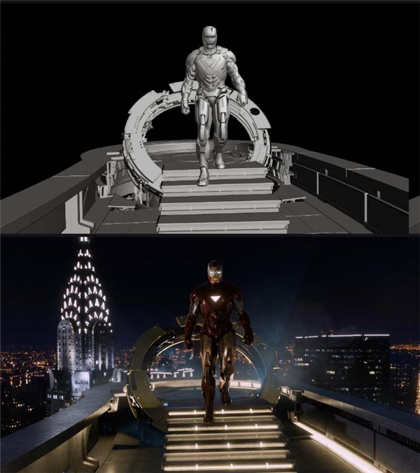 Nhân vật Iron Man với bộ áo giáp kìcông trong truyện cũng là sản phẩm của công nghệ vi tính.