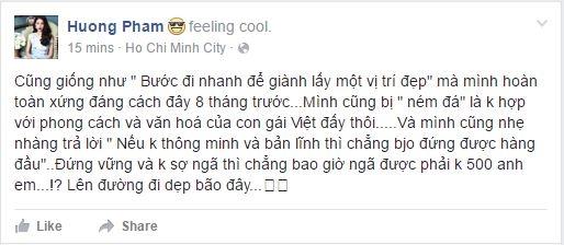 """Phạm Hương lên tiếng giữa """"bão tố"""" dư luận về The Face"""