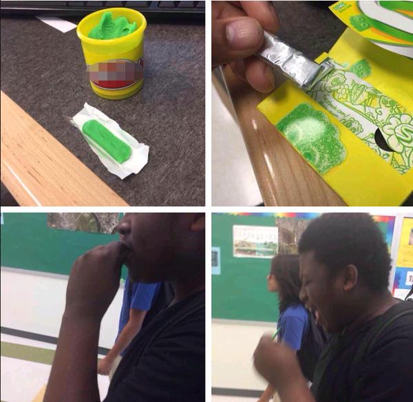Không gì cay đắng hơn bị bạn bè chơi khăm, vừa chôm mất tép sing-gum của bạn lại vừa thay thế nó bằng đất sét.